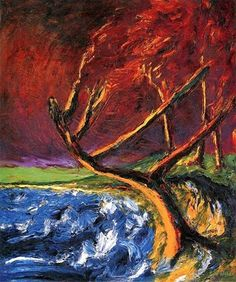1910 Emile Nolde (German~Danish 1867~1956) | He was one of the first Expressionists, a member of Die Brücke.
