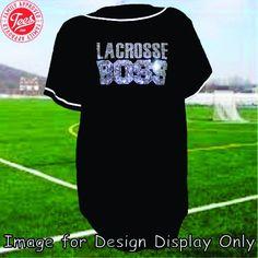 """""""Lacrosse Boss"""" Rhinestone Jersey"""