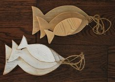 Shabby Chic Wooden Fish