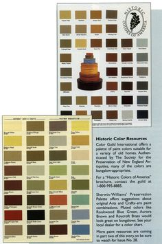 Historic Color Preservation Palette- Sherwin Williams