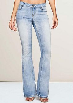 Revolt Fray Hem Flare - Plus Size Jeans - Alloy Plus - Alloy ...
