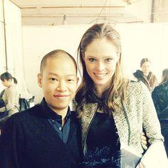 Backstage with my friend Jason Wu #NYFW