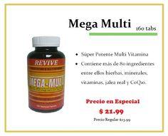 ¡En Especial!    Mega Multi (160 tabs)    Consíguelo en tus tiendas Vita Natura.    ¡Te esperamos!    **Promoción válida hasta el 31 de Marzo de 2013