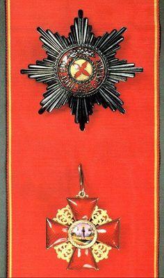 Santa Ana de 1° classe da Russia. Grã-Cruz da Ordem de;