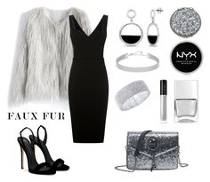 """Untitled #747"" by siriusfunbysheila1954 ❤ liked on Polyvore featuring Chicwish, Victoria Beckham, Giuseppe Zanotti, Swarovski, Anne Klein, BERRICLE, Nails Inc., Kate Spade, Illamasqua and NYX"