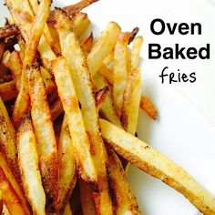 I might have just eaten all of these here French fries for lunch. What?! I know I've posted these before, but for those of you who are new to the party, here they are again. :) Oven baked fries  Cut two large baking potatoes into fry size pieces and place in a bowl full of ice water. Let them sit for about 30 minutes. Preheat the oven to 425 F with two cookie sheets in the oven. ✨important step!✨ Dry off the potatoes, place in a bowl, drizzle 1 tsp melted coconut oil, some paprika, garlic…