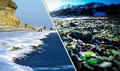 Stunning 'glass beach' with 'jewels' could vanish  unless there is MORE pollution