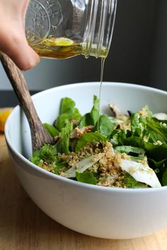 Arugula & Fennel Salad with Toasted Breadcrumbs | Peace, Love, and Food