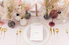 La Tavola Fine Linen Rental: Velvet Pink with Tuscany Light Pink Napkins Wedding Place Cards, Wedding Table, Rustic Wedding, Place Card Calligraphy, Gold Calligraphy, Gossip Girl Wedding, Floral Wedding, Wedding Colors, Best Wedding Blogs