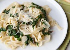 Fettuccine Pasta with Swiss Chard and Garlic