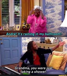 Andre's grandma led an. Really Funny Memes, Stupid Funny Memes, Funny Relatable Memes, Haha Funny, Hilarious, Funny Gifs, Funny Stuff, Victorious Nickelodeon, Icarly And Victorious