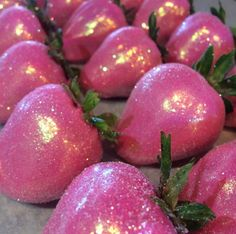 Pink & gold chocolate covered strawberries
