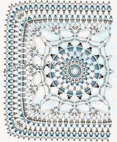 Ivelise Feito à Mão: Quadrado Lindo De Crochê