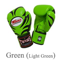 Twins Special Fancy Boxing Gloves Tattoo Pattern FBGV-9 Green US$54.95
