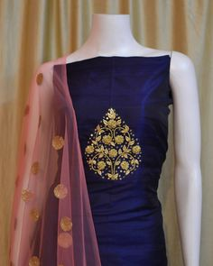 Ready for Party Dress Indian Attire, Indian Wear, Indian Outfits, Kurti Embroidery Design, Hand Embroidery, Zardosi Embroidery, Couture Embroidery, Embroidery Fashion, Beaded Embroidery