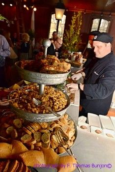Charity event highlighting food and drink from The Classic Catering People at Evergreens Carriage House. Great slideshow. Ideas for special events, weddings, celebrations