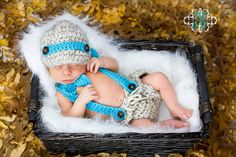 Baby Boy Newsboy SET Hat & DIAPER Cover Newborn by NitaMaesGarden, $69.95