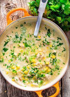 One Pot Chicken and Corn Chowder