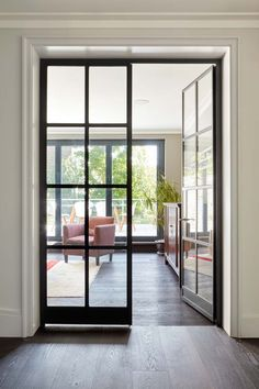 How to Choose Sliding Doors Exterior for Minimalist House Design Internal Double Doors, Double Glass Doors, Glass Internal Doors, Double Patio Doors, Double Doors Interior, Interior Barn Doors, Exterior Doors, Minimalist House Design, Minimalist Home