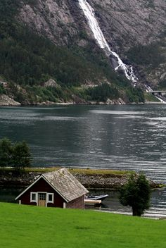 Places To Visit In Norway - Langfossen - Norway - iTravelSite. Beautiful Places To Travel, Wonderful Places, Great Places, Places To See, Beautiful Norway, The Beautiful Country, Places Around The World, Around The Worlds, Norway Viking