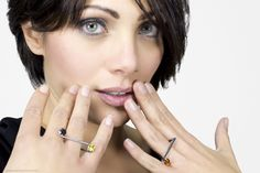 anna cino/torque bottega orafa wassily ring anello in argento e pietre