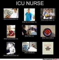 ICU NURSE... - What people think I do, what I really do - Perception Vs Fact