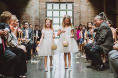 Bridal Fashion and Groom's Style Flower Girl Gifts, Flower Girl Dresses, Flower Girls, Flower Crowns, Crown Photos, Loft Wedding, Long Island City, Green Wedding Shoes, Groom Style