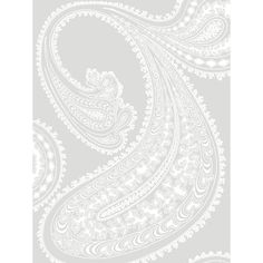 Rajapur paisley wallpaper grey and white, by Cole & Son