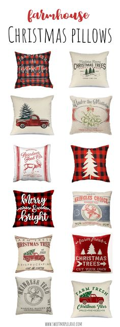 Farmhouse Christmas pillows