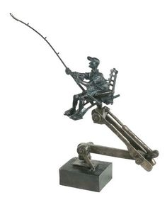 """""""The Hollywood Producer"""", Bronze #sculpture by #artist Cedric Loth at #Gallery Saint-Dizier"""