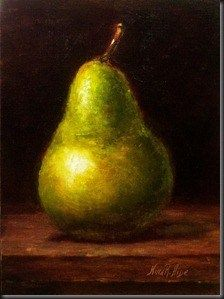 Oil Paintings by Nina R. Aide: Still Life with Green Pear . Oil on . Still Life Artists, Still Life Oil Painting, Fruit Painting, Fruit Art, Food Art, Oil Pastels, Pears, Oil Paintings, Simple Shapes