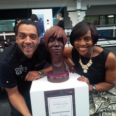 """""""Beautiful sculpture of @brendaemmanus by @PWG_Chocolate - see it all weekend at #TheChocFest @TheBDC"""""""