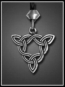 BRIGID'S KNOT Celtic Goddess Pendant Necklace - Sun Goddess Brigit Amulet