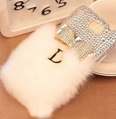 Fur iPhone 6 case luxury iPhone 6 plus case cute by makenewlife Bow Cases, Bling Phone Cases, Phone Cases Iphone6, Iphone 4s, Iphone 6 Plus Case, Iphone 7 Cases, Coque Smartphone, Samsung Galaxy S4 Cases, Galaxy Note 7