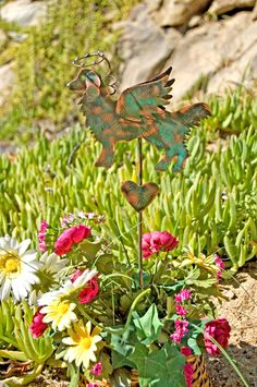 Golden Retriever Stake / Pet Memorial / Metal Garden Art / Angel Decor / Copper Art / Yard Art / Dog Sculpture / Pet Lovers Dog Gift by GardenCopperArt on Etsy