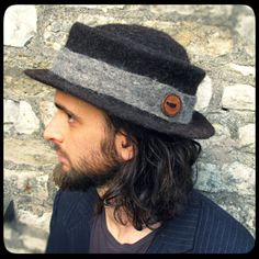 MADE to ORDER -  Moonlit  - ARtWeAR Felt Trilby Hat - hand felted wool bd8c97b43a7c