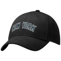 Nike New York Yankees Black Swoosh Flex Hat