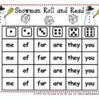 On Sale Now! Your students will love playing Snowman Roll and Read. This tool allows students to practice CCSS aligned reading and math skills simultaneously. T...