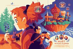 Limited handcrafted posters, made in the USA. Once sold, editions will never be reprinted. Hand numbered screen print by artist Tom Whalen. Tom Whalen, Studio Ghibli Art, Studio Ghibli Movies, Screen Print Poster, Poster Prints, Animation, Kawaii Anime, Screen Printing, Witch