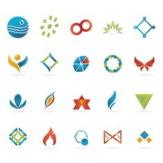 Abstract icons collection Free Vector