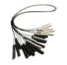 Francesca Vitali, United States, Necklace - Capelli, Recycled paper, nylon coated steel cable