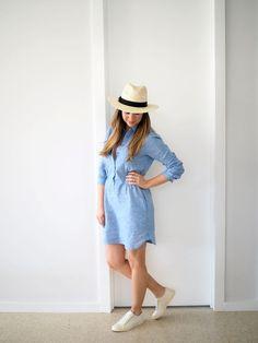 What Sonia Wore: UNIQLO Linen Shirt Dress | soniastyling.com