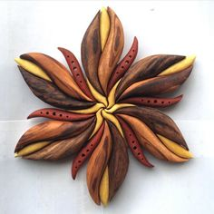 Third and final edition to the 'Elfin Flower' series! My favorite I think. All reclaimed exotic wood. All natural wood colours, no stains! For sale… Intarsia Woodworking, Woodworking Patterns, Woodworking Projects, Diy Wood Projects, Wood Crafts, Intarsia Wood Patterns, Wood For Sale, Picture On Wood, Craft Stick Crafts