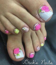 Coffen Nails, Feet Nails, Feet Nail Design, Toe Nail Designs, Pedicure Nail Art, Toe Nail Art, Rasta Nails, Nails Inspiration, Glitter