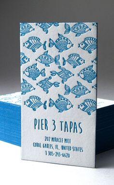 Pier 3 Tapas Business Card Design
