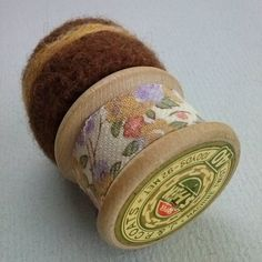 vintage wooden thread reel, merino roving pad, vintage Liberty fabric and a pladtic button! Embroidery Transfers, Embroidery Patterns, Machine Embroidery, Upcycled Vintage, Repurposed, Sewing Lace, Household Chores, Liberty Fabric, Iron On Applique