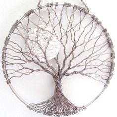 Calming Tree Wire Tree of Life Wall Hanging Sun by HomeBabyCrafts