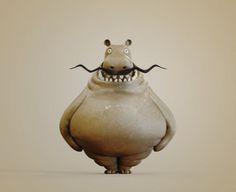 Wario Hippo, Pizza Chen on ArtStation at http://www.artstation.com/artwork/wario-hippo