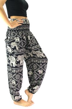 These pants are awesome for holiday relaxation, yoga exercises, nightwear or just any ordinary day. They are relaxed, stylish, comfortable and easy to wear. Made from 100% rayon fabric, these pants ar