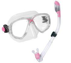 Cressi Marea Mask, Dry Snorkel & Mesh Bag